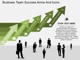 am Business Team Success Arrow And Icons Flat Powerpoint Design