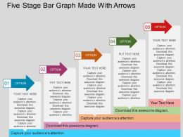 am_five_staged_bar_graph_made_with_arrows_flat_powerpoint_design_Slide01