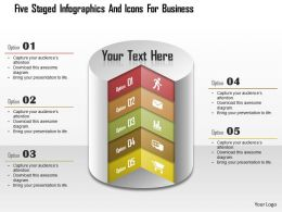 Am Five Staged Infographics And Icons For Business Powerpoint Templets