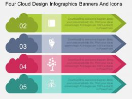 am Four Cloud Design Infographics Banners And Icons Flat Powerpoint Design