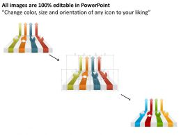 am_four_colored_arrows_and_pie_charts_powerpoint_template_Slide02