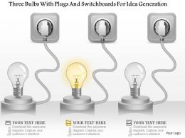 am_three_bulbs_with_plugs_and_switchboards_for_idea_generation_powerpoint_template_Slide01
