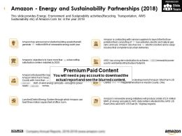 Amazon Energy And Sustainability Partnerships 2018