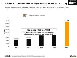 Amazon Shareholder Equity For Five Years 2014-2018