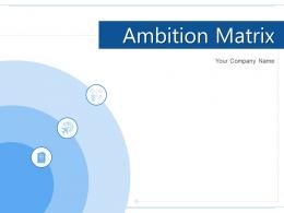 Ambition Matrix Traditional Model Investment Allocation Products Assets
