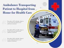 Ambulance Transporting Patient To Hospital From Home For Health Care