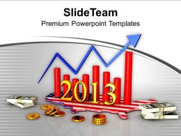 America Business Growth Year 2013 Powerpoint Templates Ppt Themes And Graphics 0113