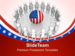 America Is Surrounded With Great People PowerPoint Templates PPT Themes And Graphics 0713