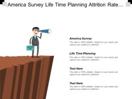 America Survey Life Time Planning Attrition Rate Management Cpb