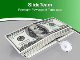 American 100 Dollar Bills With Key PowerPoint Templates PPT Themes And Graphics 0213
