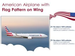 American Airplane With Flag Pattern On Wing