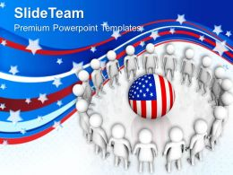 American Citizans Love Their Nation PowerPoint Templates PPT Themes And Graphics 0713