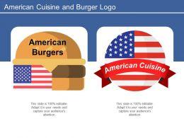 American Cuisine And Burger Logo