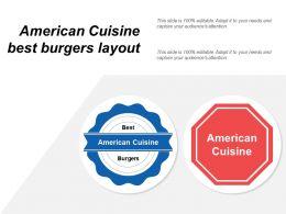 American Cuisine Best Burgers Layout