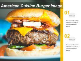 American Cuisine Burger Image