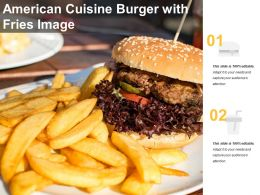American Cuisine Burger With Fries Image
