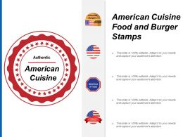 American Cuisine Food And Burger Stamps
