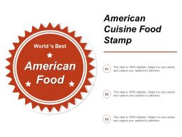 American Cuisine Food Stamp