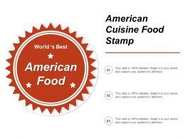 American Cuisine Food Stamp