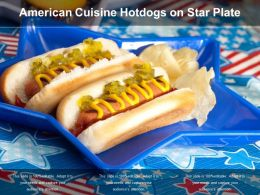American Cuisine Hotdogs On Star Plate