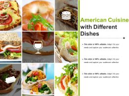 American Cuisine With Different Dishes