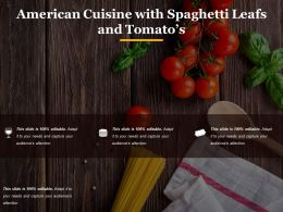 American Cuisine With Spaghetti Leafs And Tomatos1