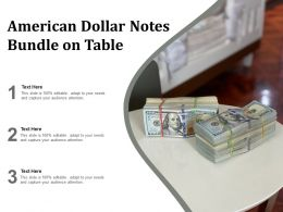 American Dollar Notes Bundle On Table