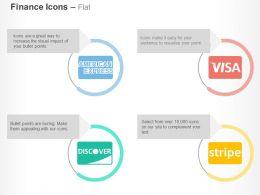 American Express Visa Discover Strip Ppt Icons Graphics