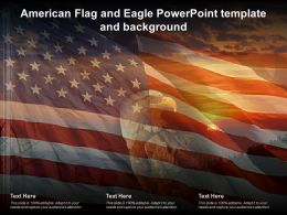 American Flag And Eagle Powerpoint Template And Background