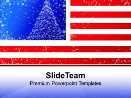 American Flag Christmas Powerpoint Templates Ppt Themes And Graphics