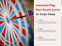 American Flag Dart Board Arrow On Target Image