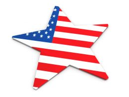 American Flag Designed Star Stock Photo
