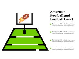 American Football And Football Court