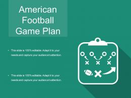 American Football Game Plan