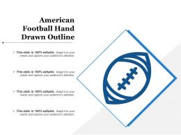 American Football Hand Drawn Outline