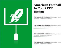 American Football In Court Ppt Design