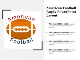 American Football Rugby Powerpoint Layout
