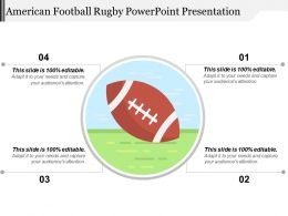 American Football Rugby Powerpoint Presentation