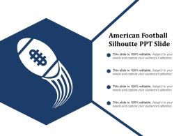 American Football Silhoutte Ppt Slide