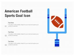 American Football Sports Goal Icon