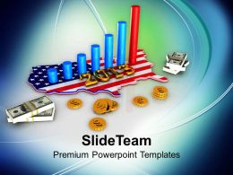 American Growth Year Business Concept PowerPoint Templates PPT Themes And Graphics 0313