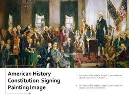 American History Constitution Signing Painting Image
