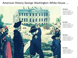 American History George Washington White House Construction Painting Image