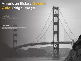 American History Golden Gate Bridge Image