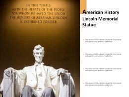 American History Lincoln Memorial Statue