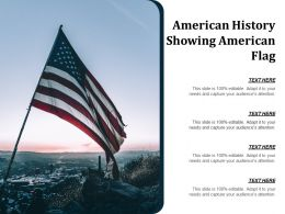 American History Showing American Flag