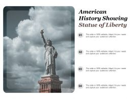 American History Showing Statue Of Liberty