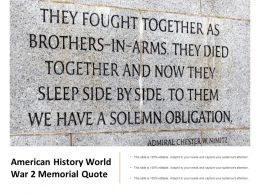 American History World War 2 Memorial Quote