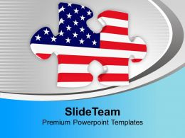 American Jigsaw Puzzle PowerPoint Templates PPT Themes And Graphics 0113