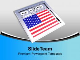 American Website USA Business PowerPoint Templates PPT Themes And Graphics 0113
